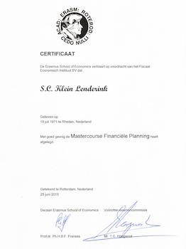 Sandra Klein Lenderink Master Financieel Planner