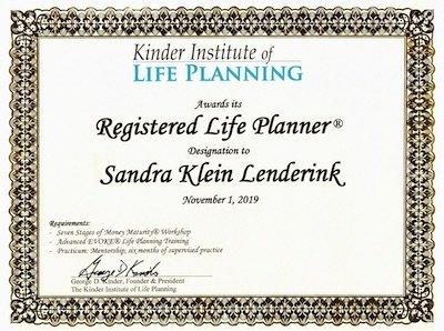 Sandra Klein Lenderink life planner